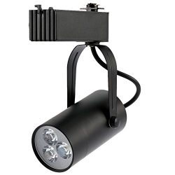 Docooler 3W LED Track Rail Light Spotlight Adjustable for Mall Exhibition Office Use AC85- 265V
