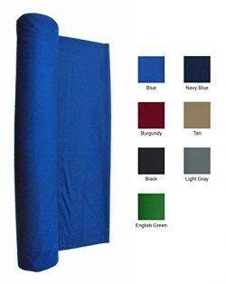 Blue 21 Ounce Pool Table Felt Billiard Cloth for 9′ Table 144″ X 61″