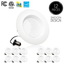 (12 Pack)- 5/6 inch Dimmable LED Downlight, 15W (120W Replacement), EASY INSTALLATION, Retrofit  ...