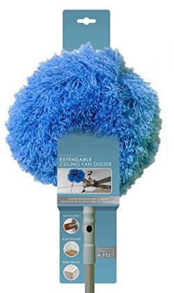 Sophisticlean Extendable Ceiling Fan Duster, Telescoping Pole, Fan Blade Cleaner