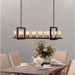 Farmhouse Chandelier Lighting Great For Dining Rooms And Kitchen Island Areas. Rectangular Linea ...