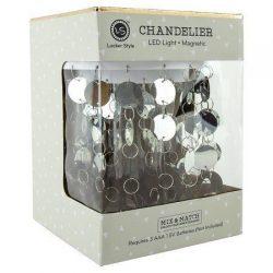 Locker Style Accessories – Chandelier-Magnetic – Silver