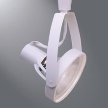 Halo LZR1338P Lazer 1-Light White Track Lighting Head, Front Loading, White