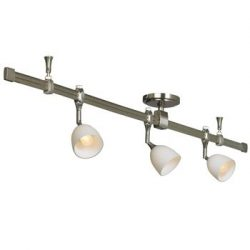 Nora Lighting NRS29-4204BNW 3 Light Straight Rail Track Lighting
