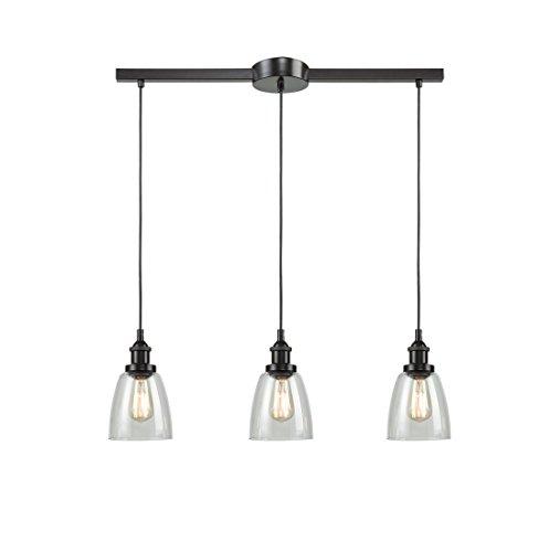 Eul Industrial Kitchen Island Lighting Glass Pendant Chandelier