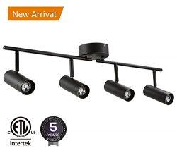 LEONLITE 28W LED Dimmable Track Light, ETL Listed 4-in-1 Ceiling Spot Lighting, 1800lm, Flexibly ...