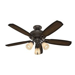 Hunter 52 in. Traditional Ceiling Fan in Onyx Bengal with LED Light Kit (Certified Refurbished)