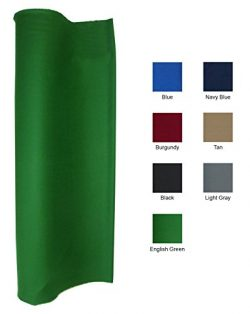 English Green 21 Ounce Pool Table Felt Billiard Cloth Choose for 7, 8 or 9′ Table (for 8&# ...