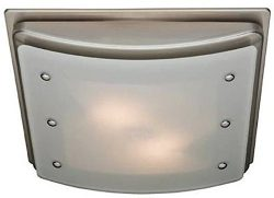 Hunter 90064 Ellipse Bathroom Ventilation Exhaust Fan with Light and Swirled Marble Glass (Bathr ...