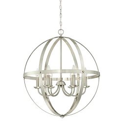 Westinghouse 6328300 Stella Mira Six-Light Indoor Chandelier Finish, Brushed Nickel