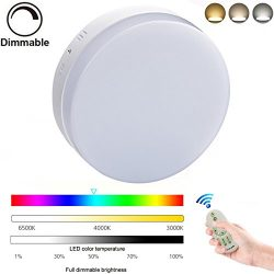 8.86″Led Remote Control Led Ceiling Light Fixture 24W Flush Mount Dimmable Ceiling Lights  ...