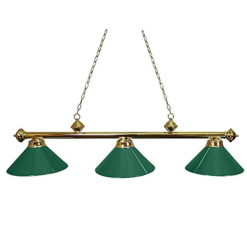 Ozone Brass Pool Table Light With Green Shades