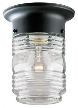 One-Light Jelly Jar Porch-Light (Black)