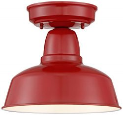 Urban Barn Collection 10 1/4″ Wide Red Ceiling Light