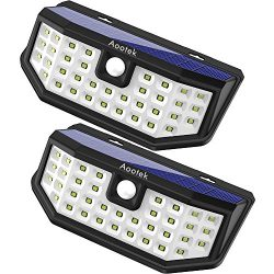 New Upgraded 36 LED Solar Lights with Wide Angle Illumination,Outdoor Motion Sensor Waterproof W ...