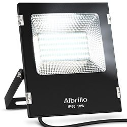 Albrillo 50W LED Flood Light Outdoor, 300W Halogen Bulb Equivalent, 4000lm, 6000K Super Bright L ...