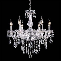Peatao Crystal Chandeliers Lighting Fixture Pendant Light Ceiling Candle Chandelier 110V (US STOCK)