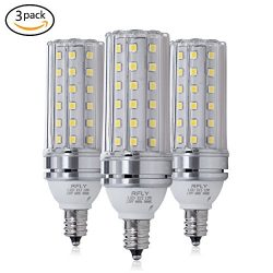 E12 LED Bulbs, 12W LED Candelabra bulb 100 Watt Equivalent, 1200lm, Decorative Candle Base E12 N ...