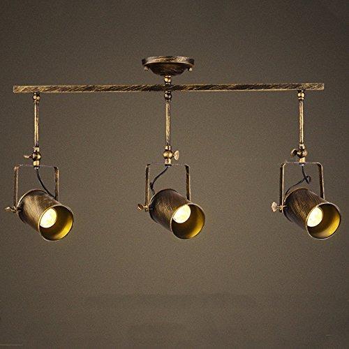 Leonlite 3 Pack Industrial Pendant Lighting For Kitchen: Motent Vintage Industrial 3 Way Spotlight Pendant Light 3