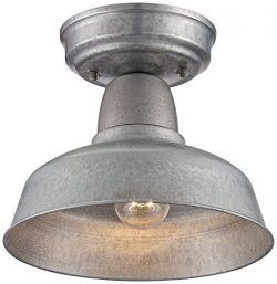 Urban Barn 10 1/4″ Wide Galvanized Steel Ceiling Light