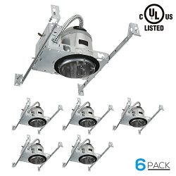 TORCHSTAR 6 Inch Recessed Housing For New Construction, IC Rated, Air Tight Ceiling Downlight Ca ...