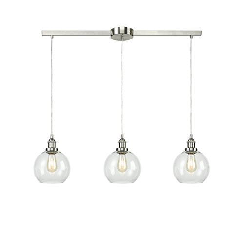 EUL Industrial Vintage Kitchen Island Lighting Clear Glass