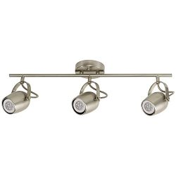 Globe Electric 58959 Samara 3 Track Lighting Finish, Dimmable, LED Bulbs Included, Brushed Nickel