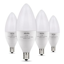 Albrillo E12 Bulb Candelabra LED Bulbs, 60 Watt Equivalent, Daylight White 5000K LED Chandelier  ...