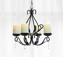 GiveU 3 IN 1 Lighting Chandelier, Metal Wall Sconce Set of 2, Table Centerpiece for Indoor or Ou ...