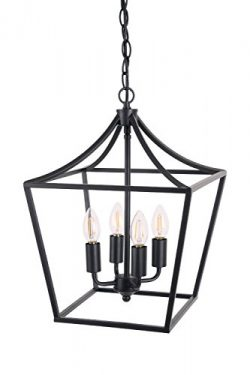 Homenovo Lighting Marden 4-Light Chandelier, Industrial Style Lighting for Entryway,Hallway and  ...