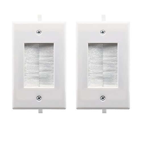 Recessed Low Voltage Cable Through Brush Wall Plate Yomyrayhu Easy To Mount Outlet Cable