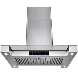 Golden Vantage 36″ Inch Convertible Stainless Steel Island Mount Range Hood Cooker Fan Ove ...