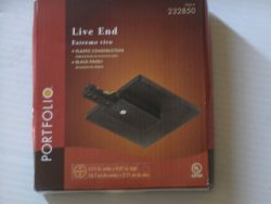 Portfolio Black Live End Connector Cover Box Item# 232850 Model# 175007-002 UPC# 022011766881