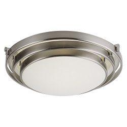 Trans Globe Lighting 2483 BN 1-Light Flush-Mount, Brushed Nickel