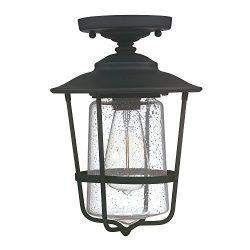 Capital Lighting 9607BK One Light Outdoor Ceiling