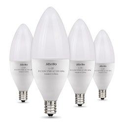 Albrillo E12 Bulb, LED Candelabra Light Bulbs 40 Watt Equivalent, Warm White LED Chandelier Bulb ...