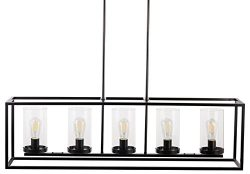 Verona 5 Light Kitchen Island Pendant – Bronze w/LED Bulbs – Linea di Liara LL-CH17- ...