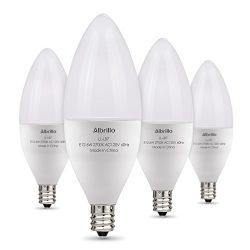 Albrillo E12 LED Bulb Candelabra Light Bulbs 6W, 60 Watt Equivalent, Warm White 2700K Chandelier ...
