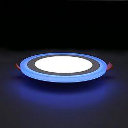 P&LED Ultrathin Round Double Color White+Blue Led Panel Light Led Ceiling Light Led Downligh ...