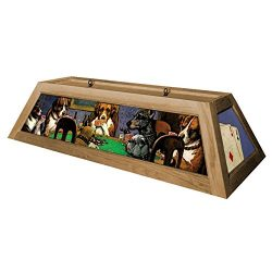 Dogs Playing Poker Pool Table Light – Oak