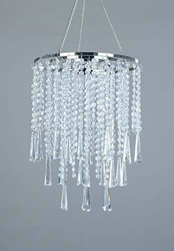 FlavorThings 3 Tiers Clear Acrylic Beaded Hanging Chandelier,Great idea for Wedding Chandeliers  ...