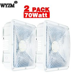2 Pack of 70Watt LED Canopy Lights,NO Weather Proof,9.5″ x 9.5″,120V 277V for Playgr ...