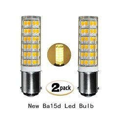 6W Ba15d Dimmable LED Light Bulb 50W Equivalent Warm White 3000k Ba15d Double Contact Bayonet Ba ...