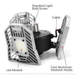 Kaipu Garage Light 6000 Lumens ceiling Light Motion Activated Indoor Light E26 Deform-able Lamp  ...