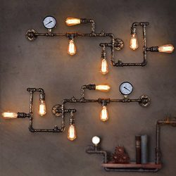 LightInTheBox Loft Industrial Wall Lamps Antique Edison Wall lights with Bulbs E26/E27 Vintage P ...