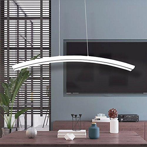 Best Kelvin For Living Room: Modern Chandelier Acrylic Moon Shape LED Pendant Hanging