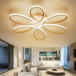 LightInTheBox Floral Flush Mount 90W Modern Contemporary LED Chandelier Ceiling Light Fixture Di ...