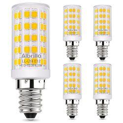 Albrillo E12 LED Candelabra Bulb Chandelier Light Bulbs 60 Watt Equivalent, 5W Ceiling Fan Light ...