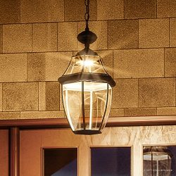Luxury Colonial Outdoor LED Pendant Light, Large Size: 19″H x 11″W, with Tudor Style ...