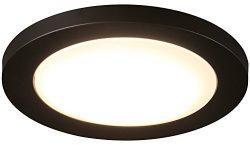 Cloudy Bay 12 inch LED Flush Mount Ceiling Light 4000K Cool White Dimmable 17W 1100lm -120W Inca ...
